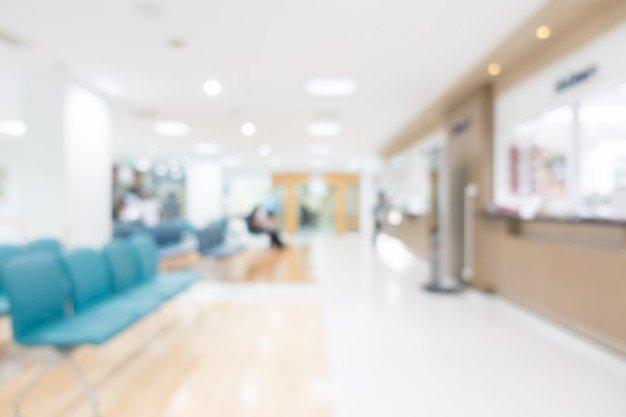 blurry hospital lounge