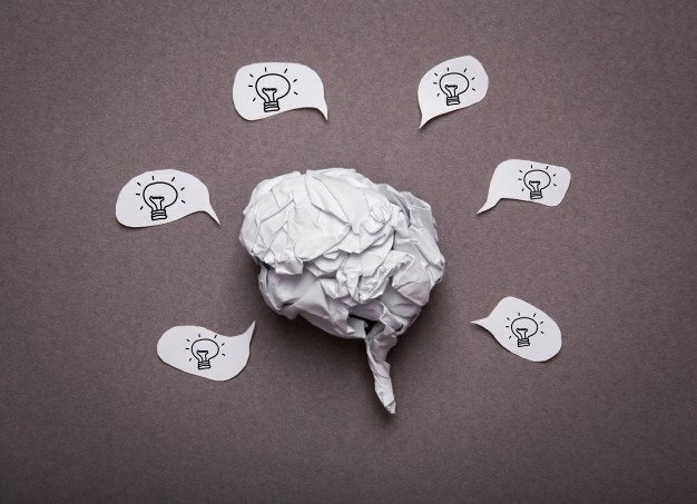 brainconcept made of paper