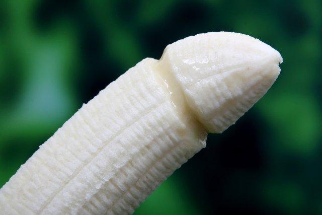 banana shaped like a penis