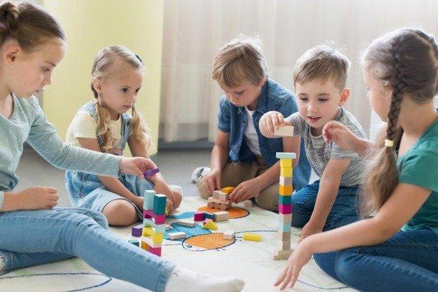 five children playing