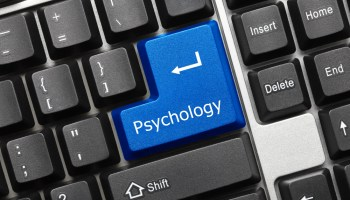 """Psychology button on computer where """"Enter"""" key should be"""