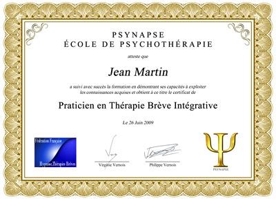Certificat de formation Praticien en Thérapie Brève Integrative