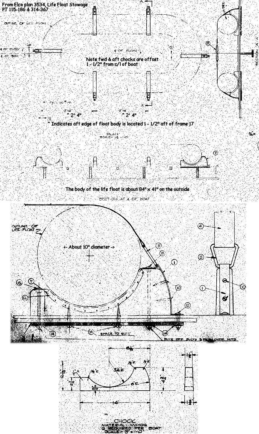 medium resolution of life float stowage