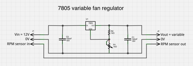 7805 based variable fan controller