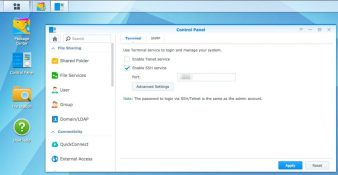 Enabling SSH on Synology NAS