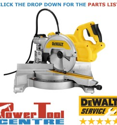 details about dewalt genuine spare parts dws777 mitre saw type 1 [ 1200 x 1200 Pixel ]