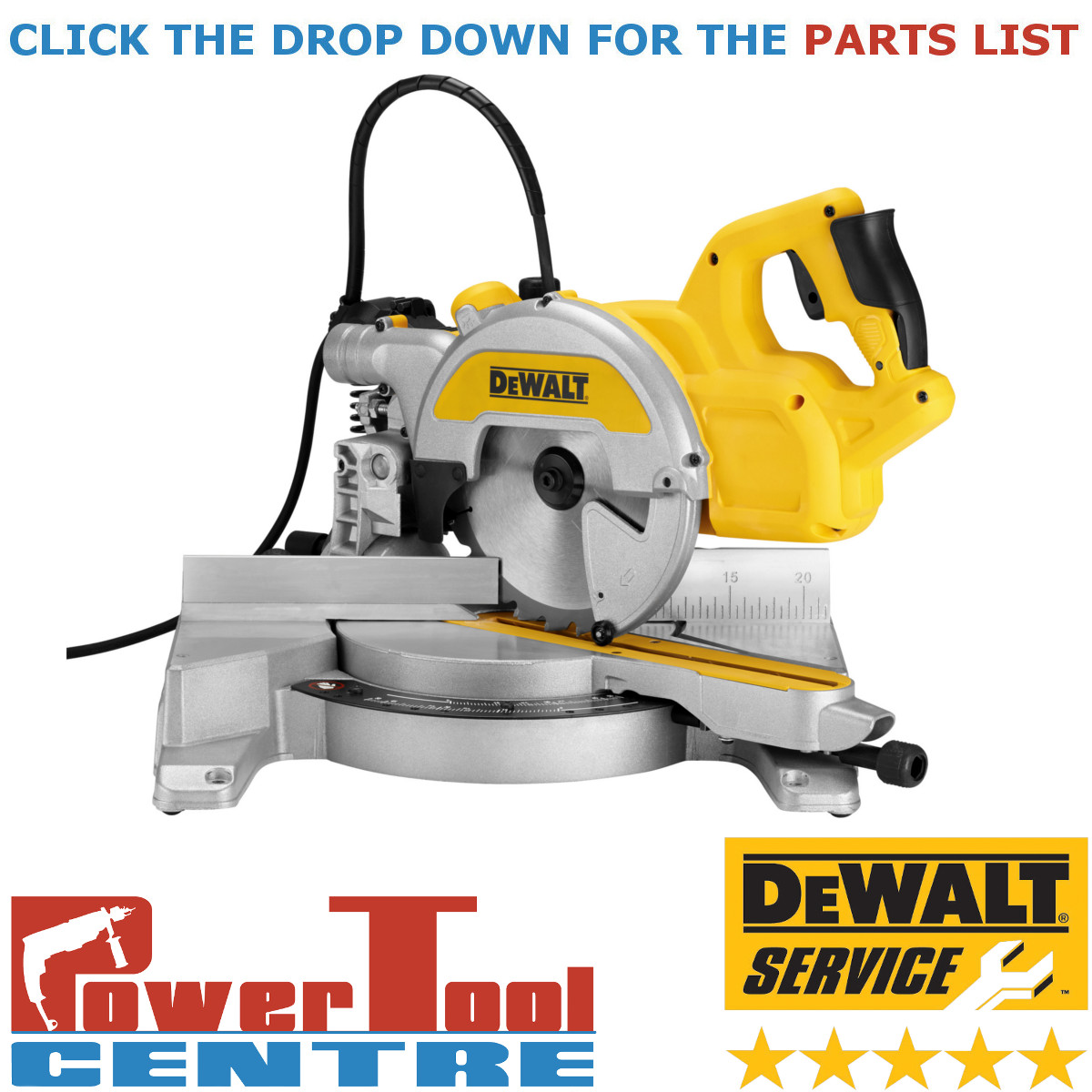 hight resolution of details about dewalt genuine spare parts dws777 mitre saw type 1