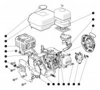 Spares for Evolution Evo200 6.5hp 4-stroke Petrol Engine