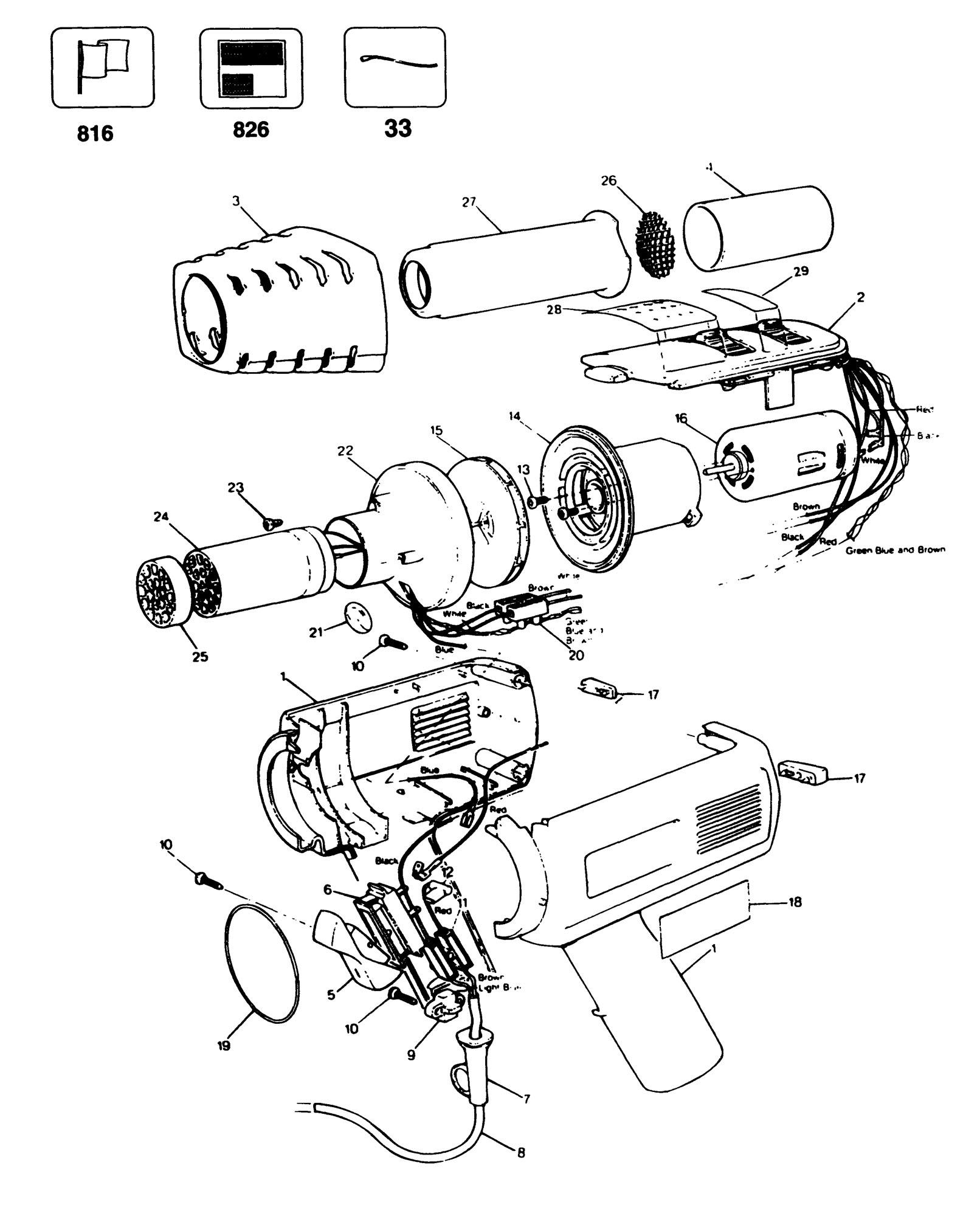 Spares For Black Amp Decker Sr110e Heatgun Type 1 Spare