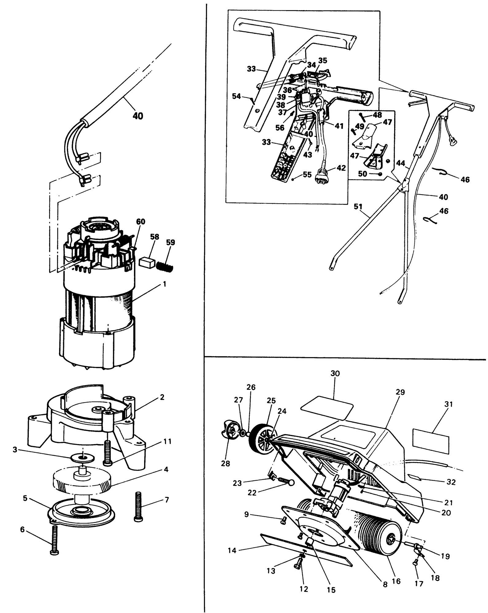 Spares for Black & Decker R1e Rotary Mower (type 1) SPARE