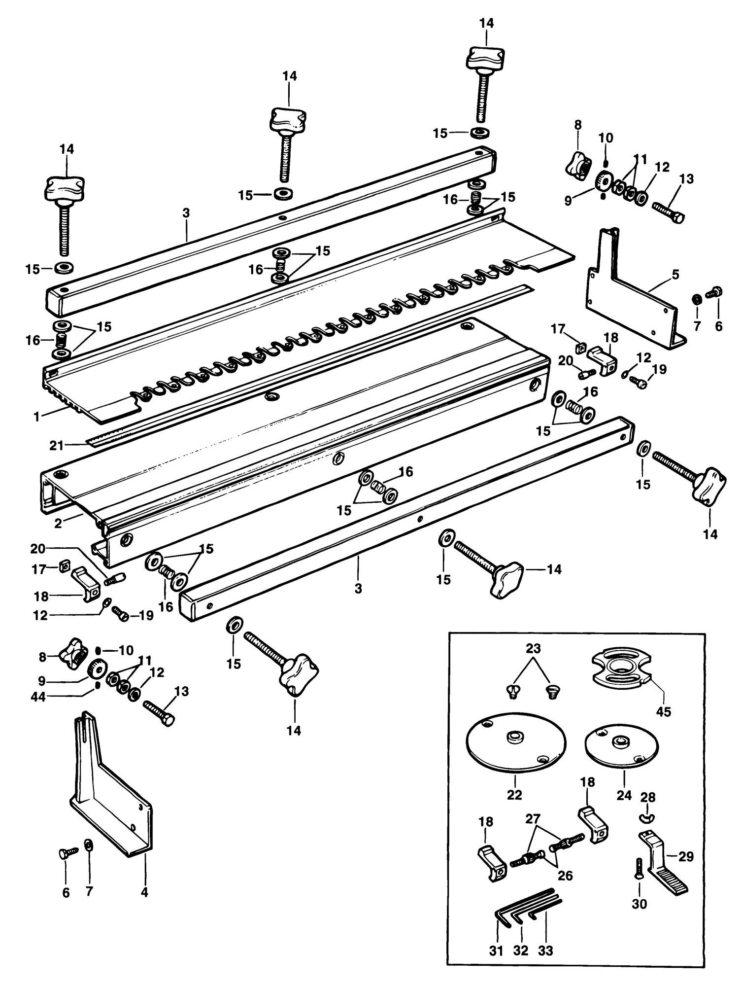 Spares for Elu E40040 Dovetail Jig (type 1) SPARE_E40040