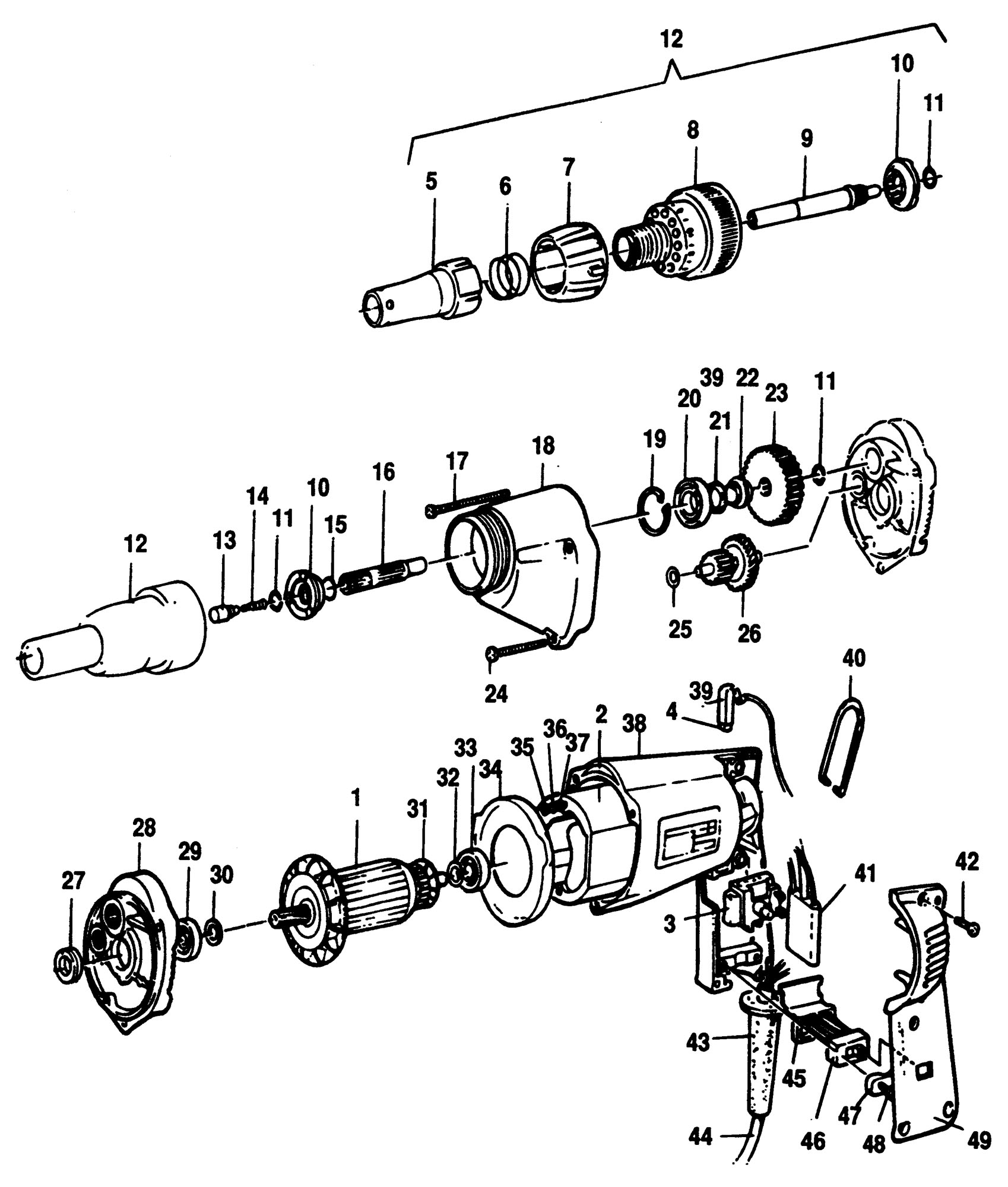 Spares For Black Amp Decker P Screwdriver Type 1 Spare