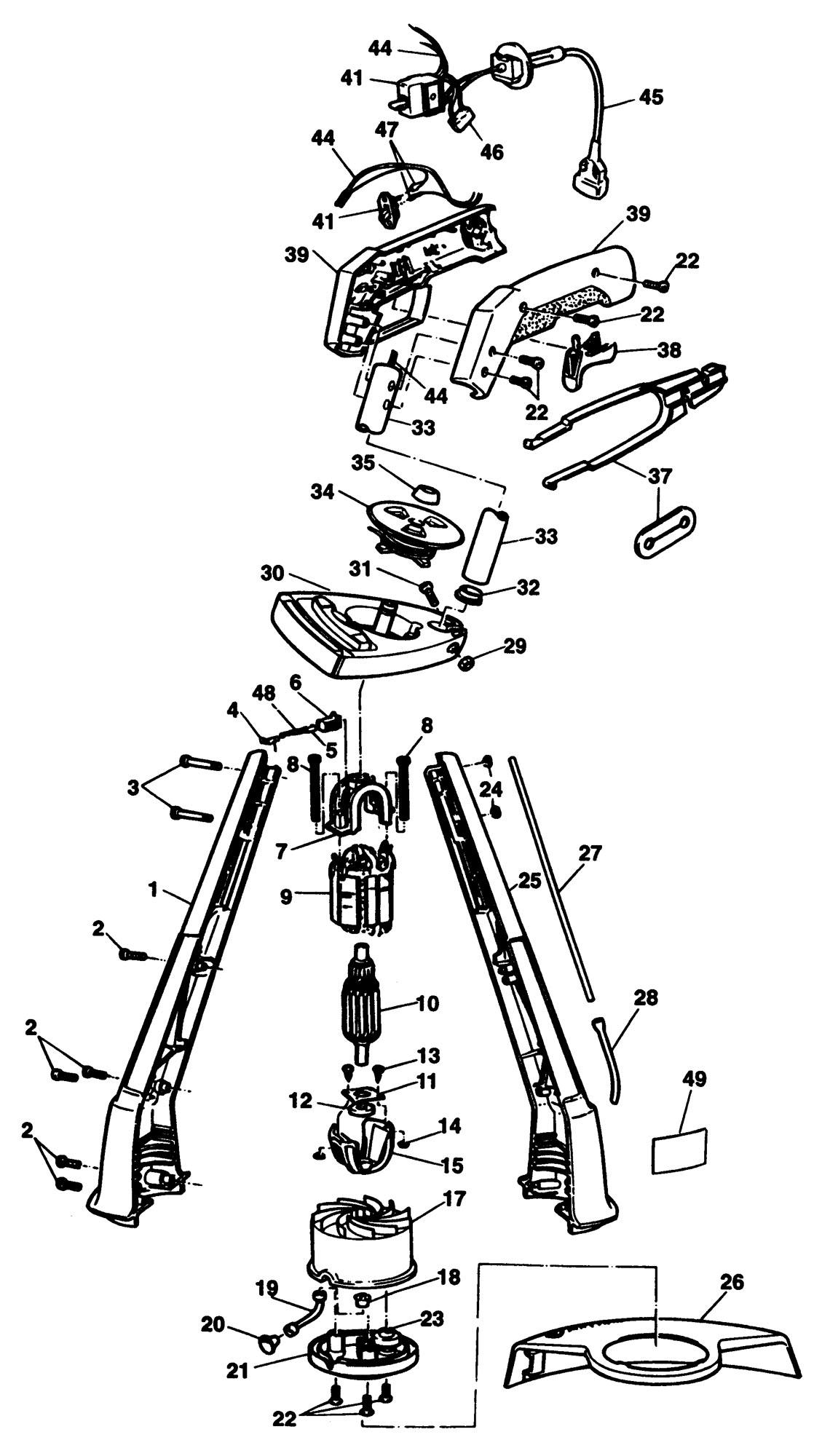 Spares For Black Amp Decker String Trimmer Type 1