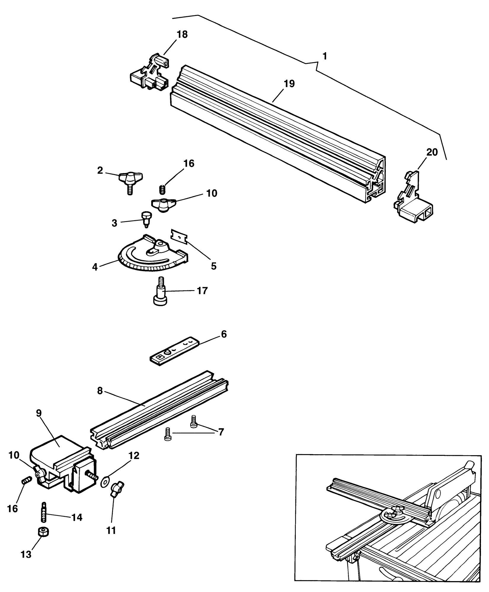 Spares For Elu Ezets10 Fence Type 1 Spare Ezets10 Type 1