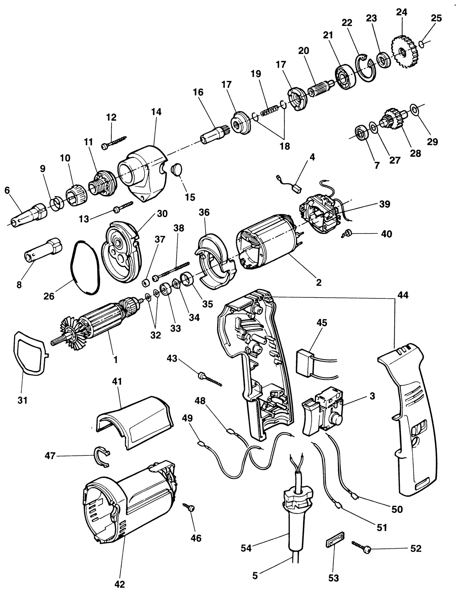 Spares For Elu Esd707 Screwdriver Type 2 Spare Esd707