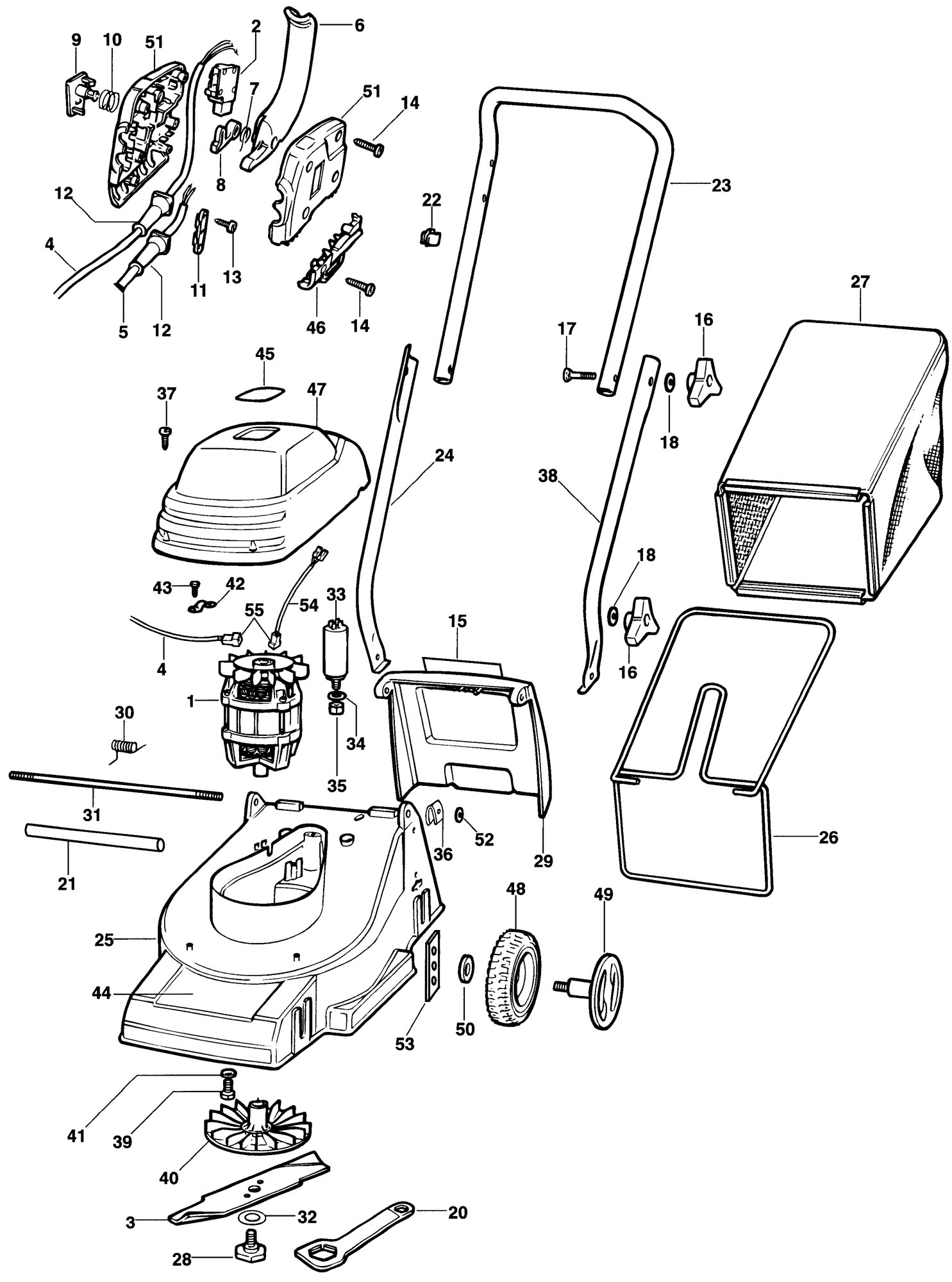 Spares for Black & Decker Gr230 Rotary Mower (type 1