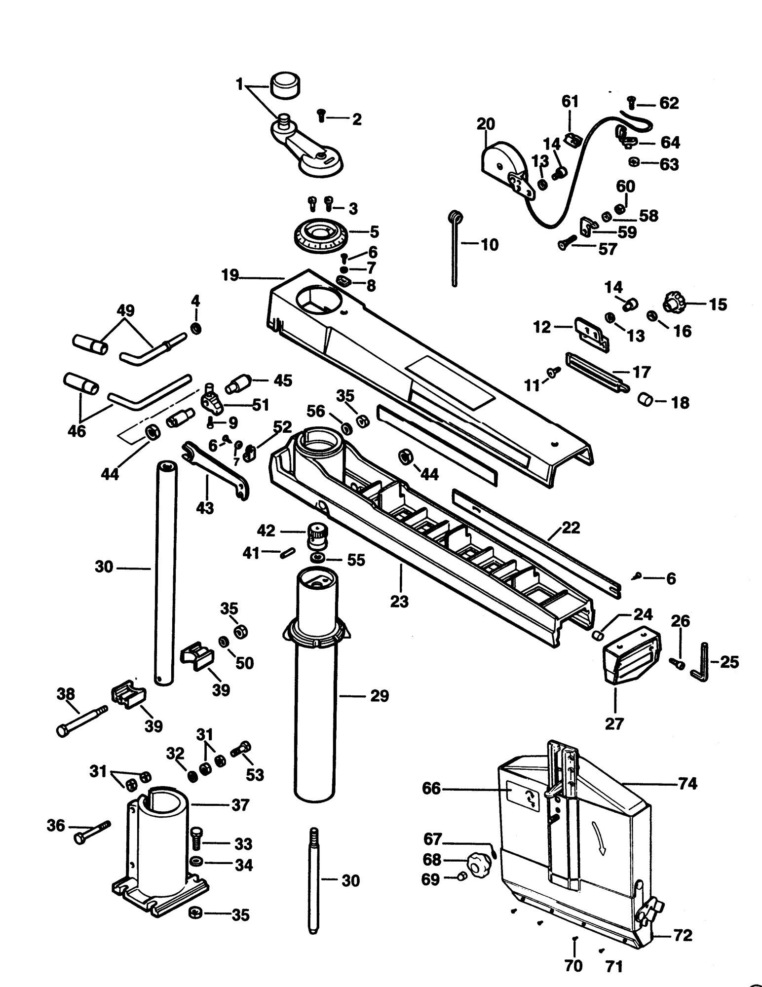 Spares for Elu Ras1251 Radial Arm Saw (type 1ce) SPARE