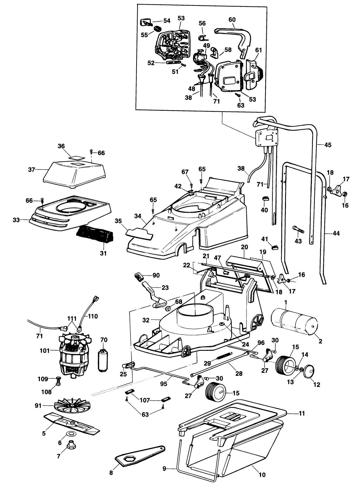 Spares For Black Amp Decker Gr360 Rotary Mower Type H4c
