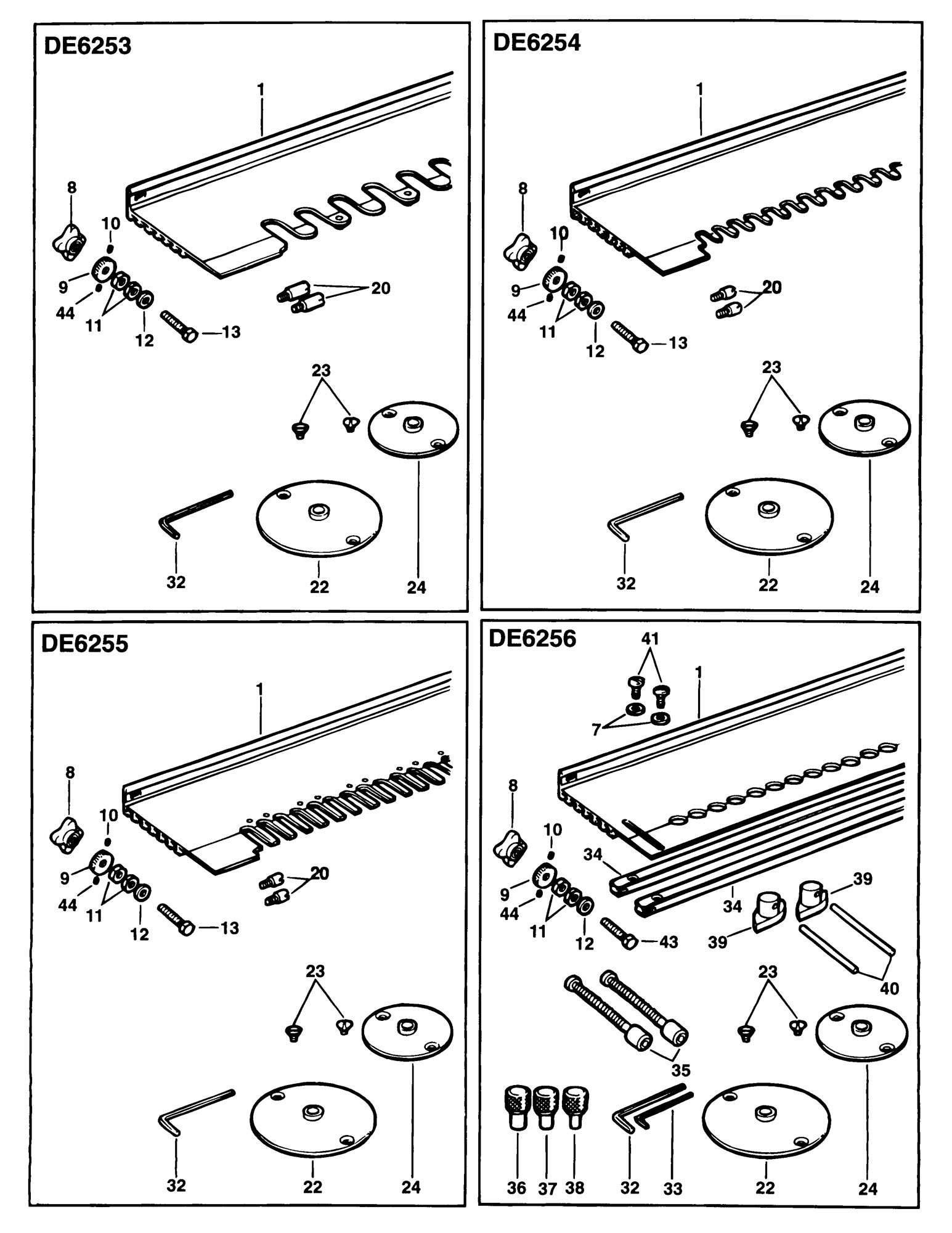 Spares for Dewalt De6256 Dovetail Jig (type 1) SPARE