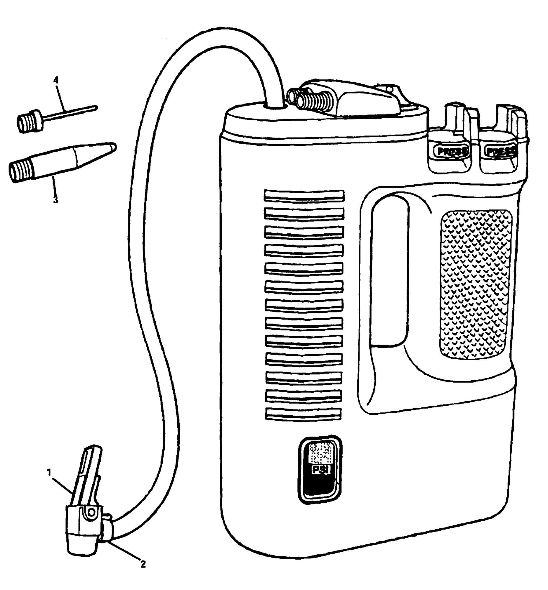 Spares for Black & Decker Vp700 Inflator (type 1) SPARE