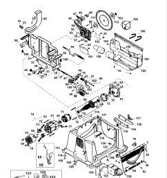 spares for dewalt dw744 table saw type 2 spare dw744 type 2 from dw744 table saw wiring diagram [ 1522 x 2000 Pixel ]