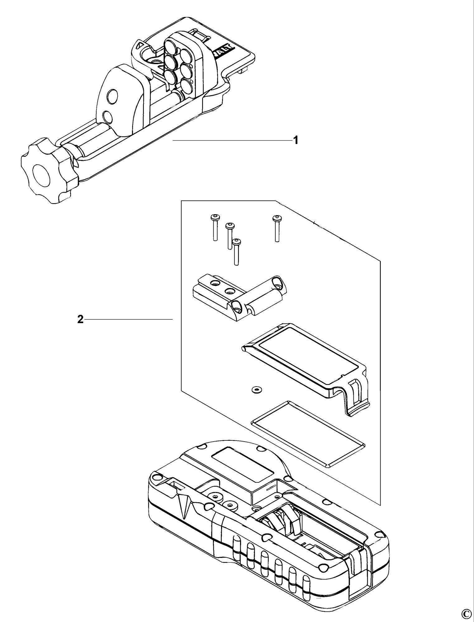 Spares for Dewalt De0772 Digital Laser Detector (type 1