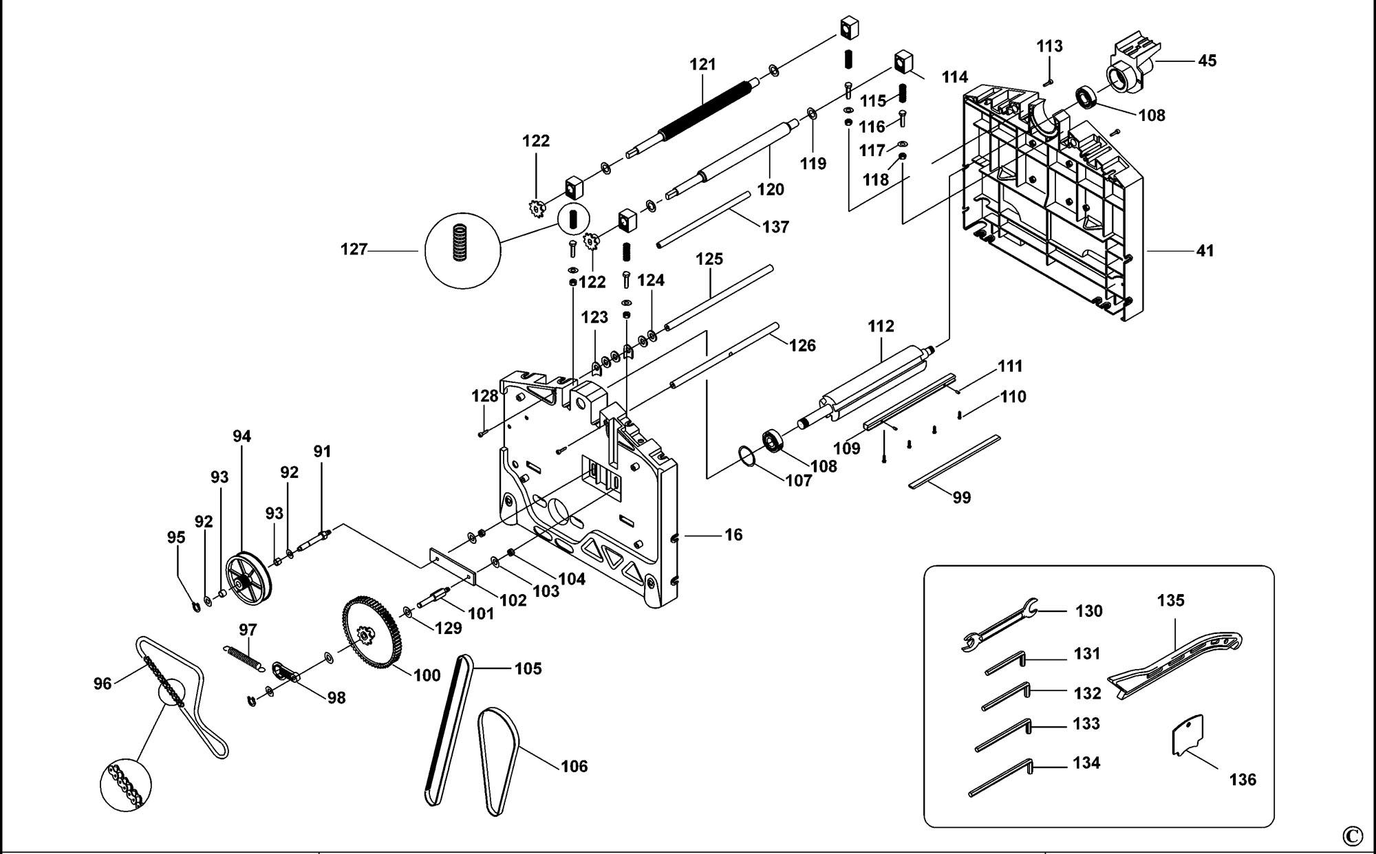 DeWalt Genuine Spare Parts D27300 Planer Thicknesser