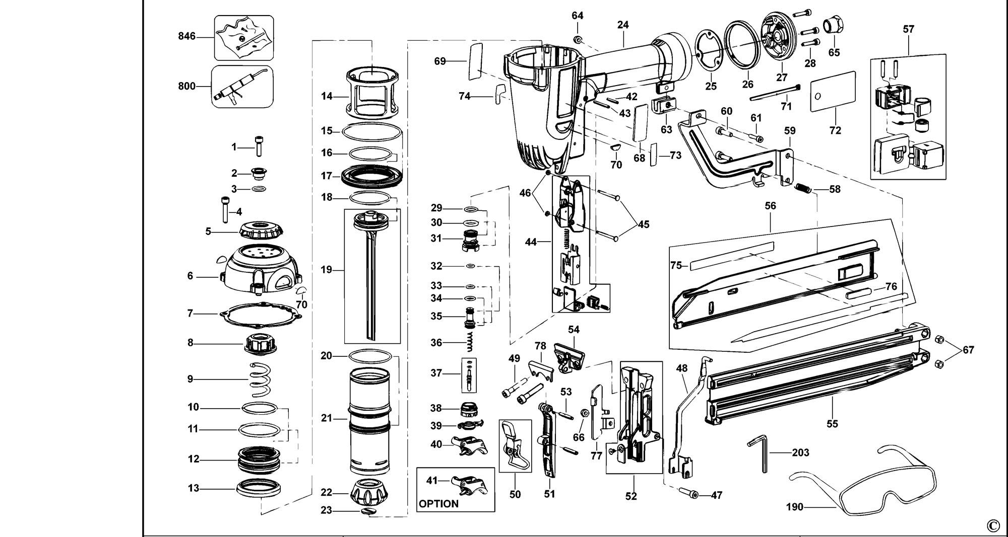 Spares For Dewalt D Nailer Type 1 Spare D Type
