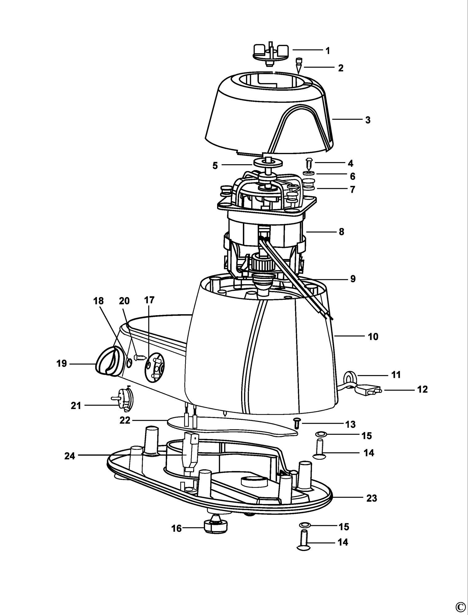 Spares for Black & Decker Fg550 Mixer Grinder (type 1
