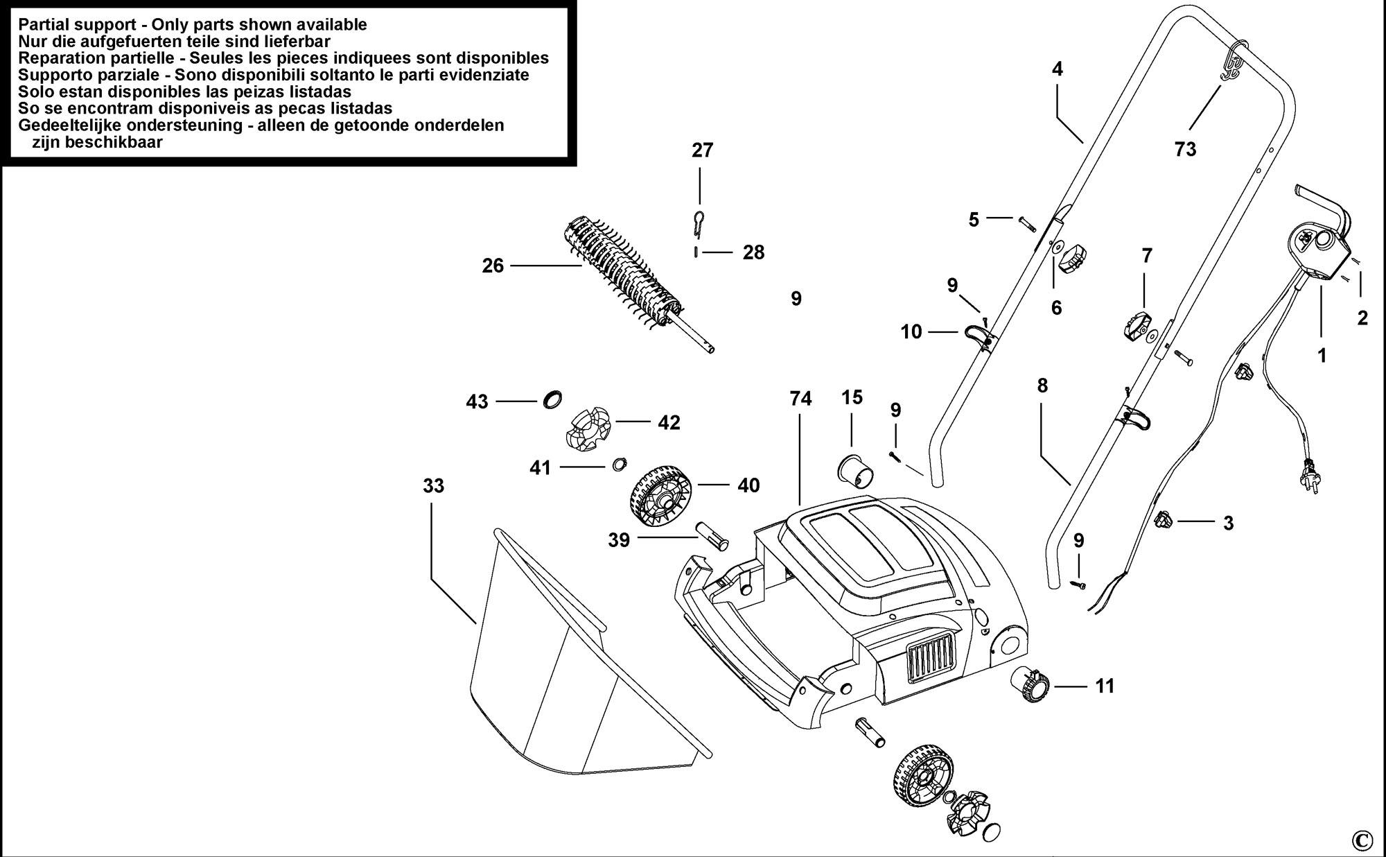 Spares for Black & Decker Gd300 Lawnraker (type 1) SPARE