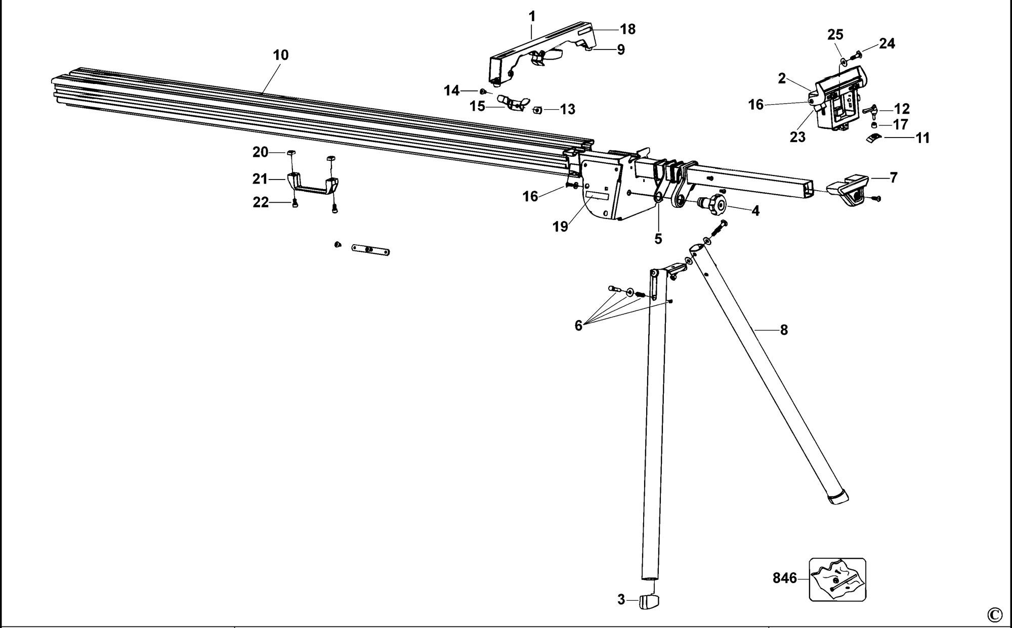 Spares for Dewalt Dw723 Leg Stand (type 1) SPARE_DW723