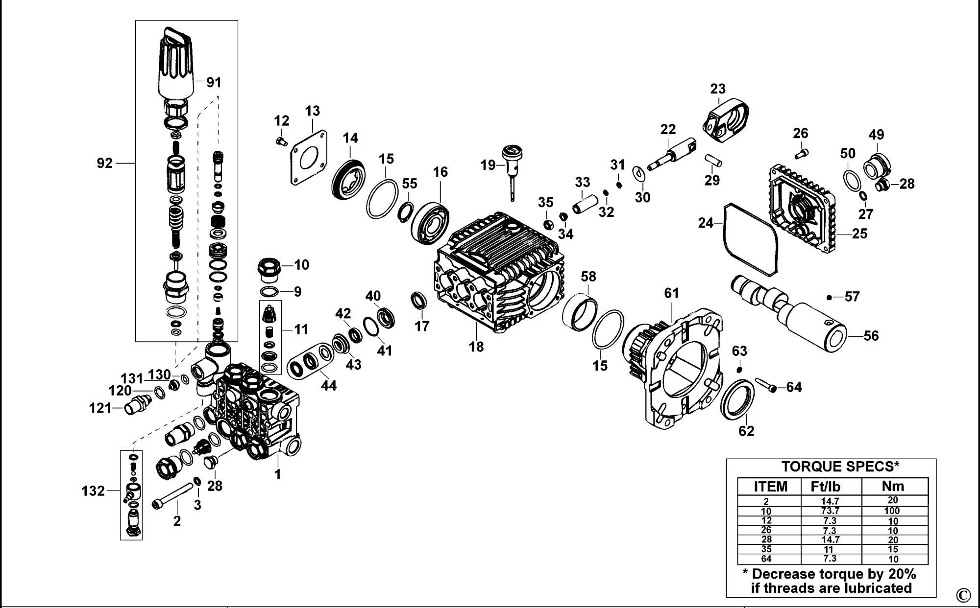Spares for Dewalt Dp3750 Pressure Washer (type 1) SPARE