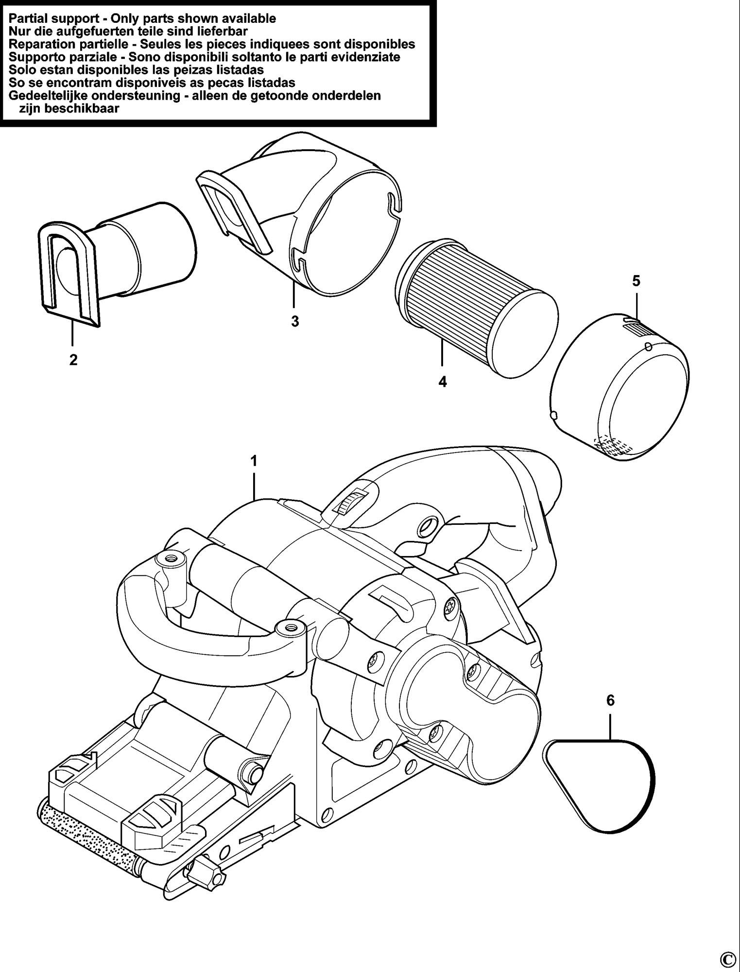 Spares For Black Amp Decker Ka89e Belt Sander Type 1 Spare