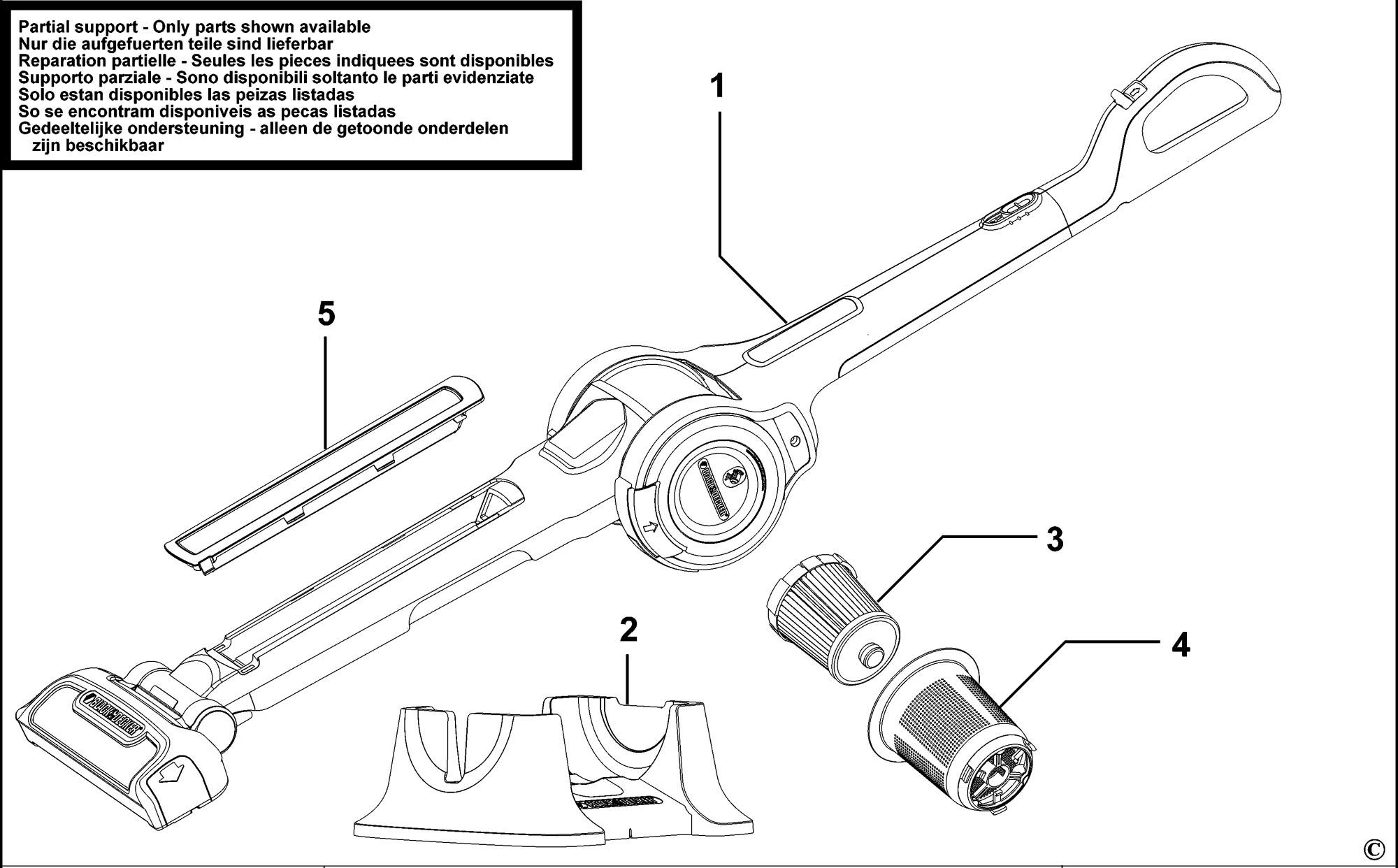 Spares For Black Amp Decker Fv N Stick Vac Type H2
