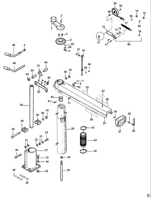 Spares for Dewalt Dw721kn Radial Arm Saw (type 2) SPARE