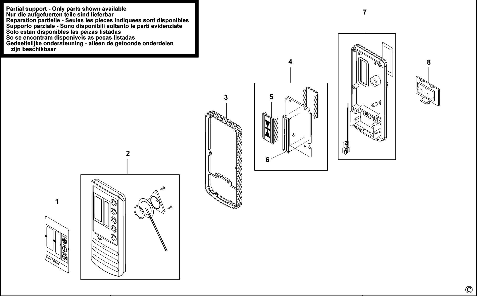 Spares For Stanley Rld1 Digital Laser Detector Type 1