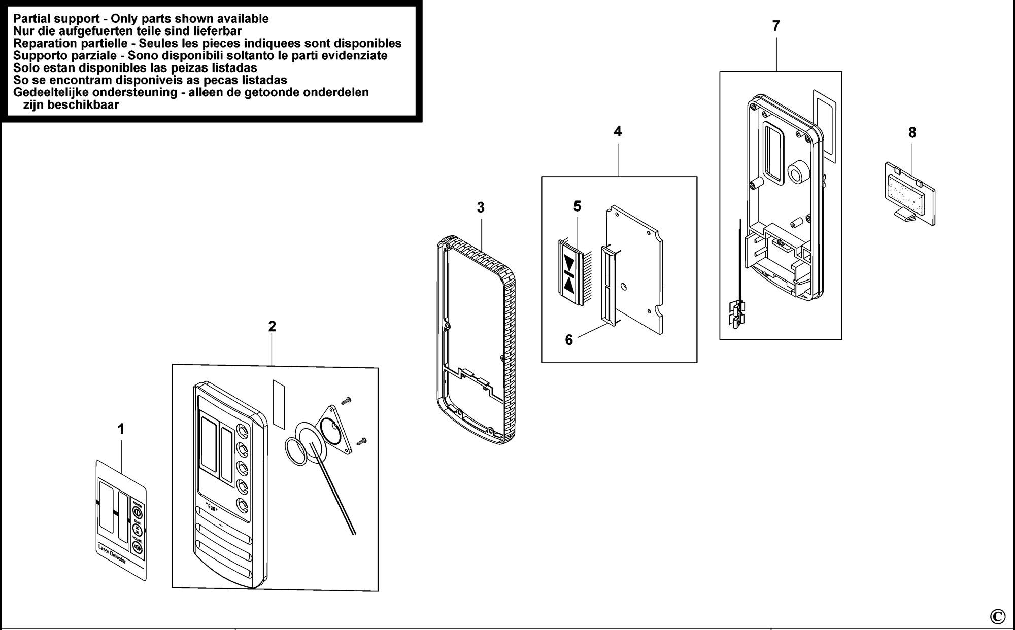 Spares for Stanley Lld1 Digital Laser Detector (type 1
