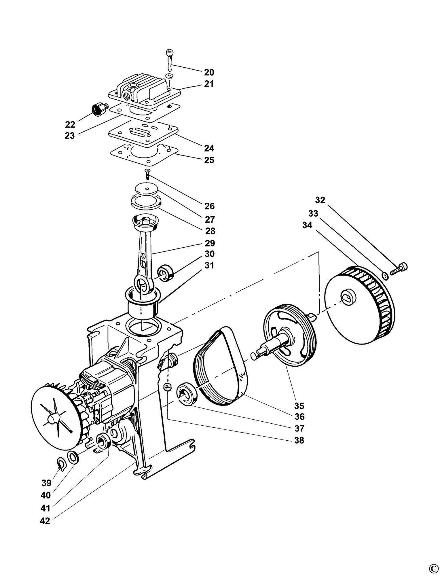 Spares for Bostitch Mrc6 Compressor (type Reva) SPARE_MRC6