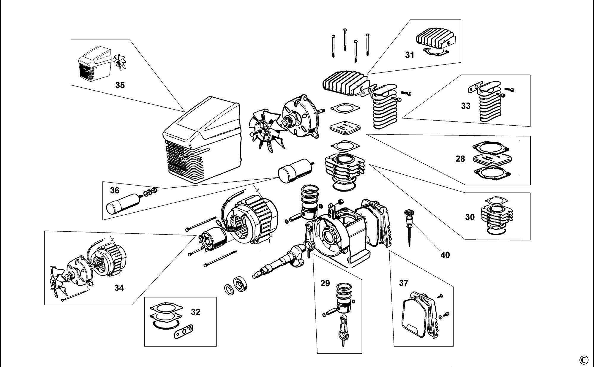 Spares for Bostitch Ps20 Compressor (type Reva) SPARE_PS20