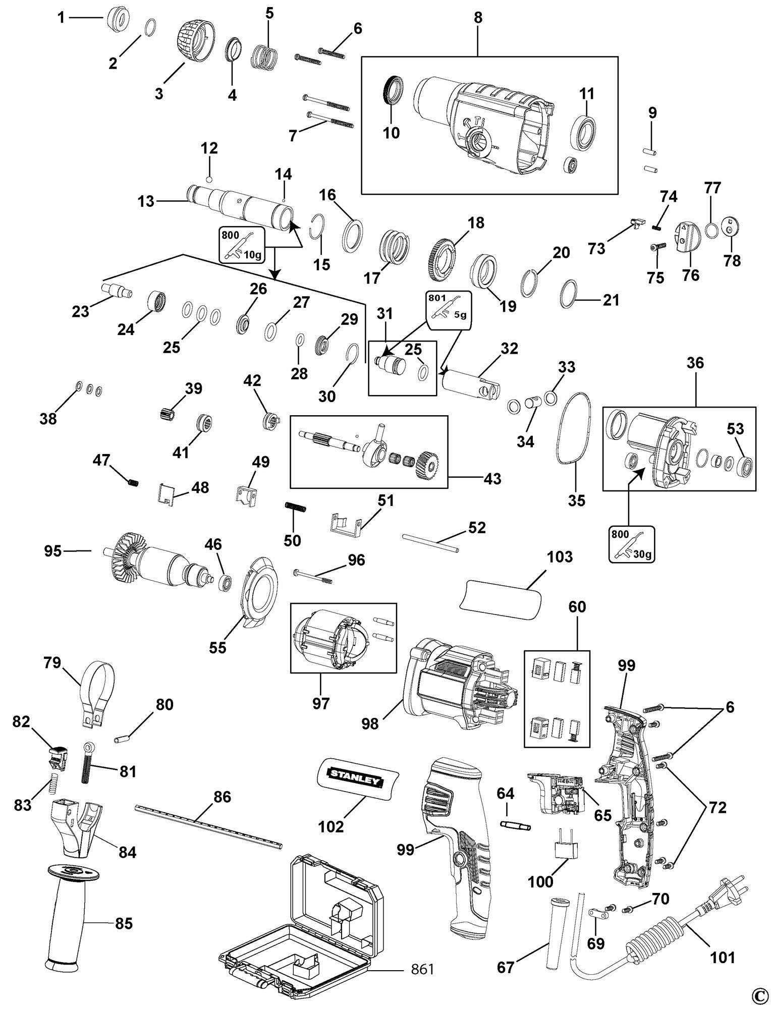 parts of a drill bit diagram bmw z3 radio wiring spares for stanley fme500 rotary hammer type 1