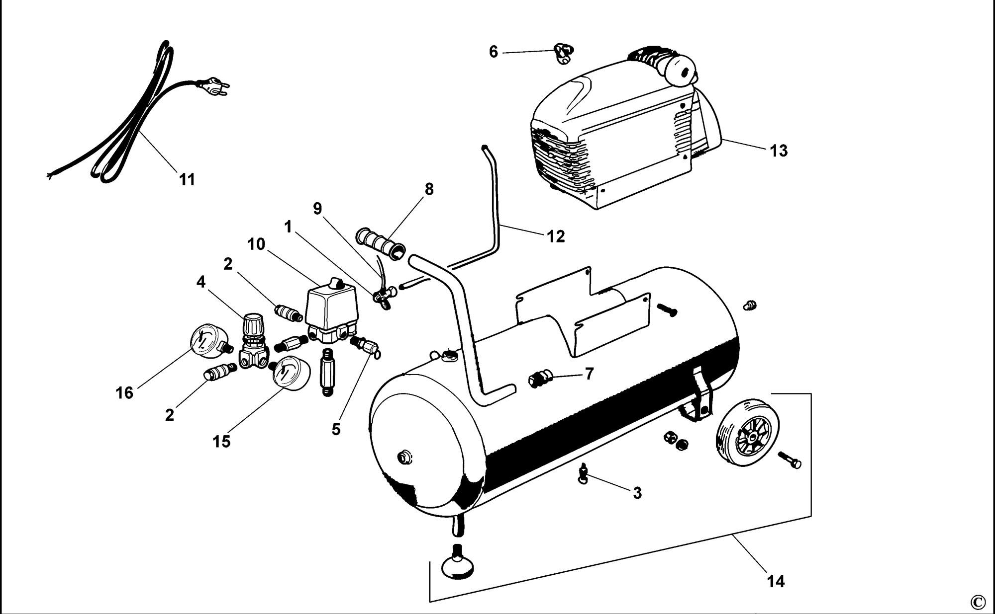 Spares for Bostitch C24 Compressor (type Reva) SPARE_C24