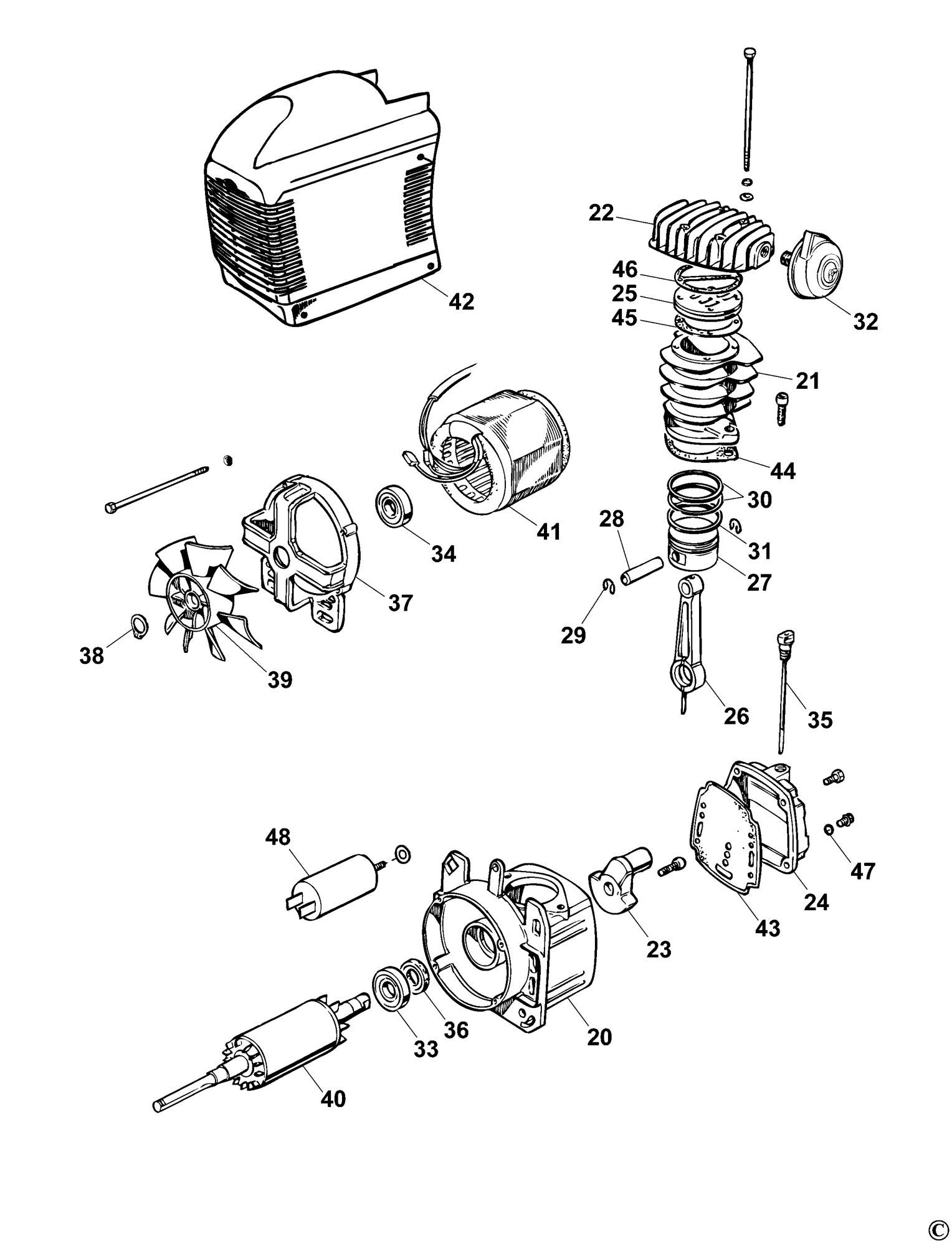 Spares for Bostitch C50 Compressor (type Reva) SPARE_C50