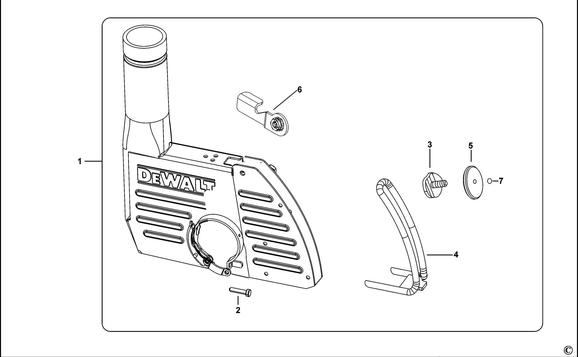 Spares for Dewalt Dwe46100 Dust Extraction Kit (type 1