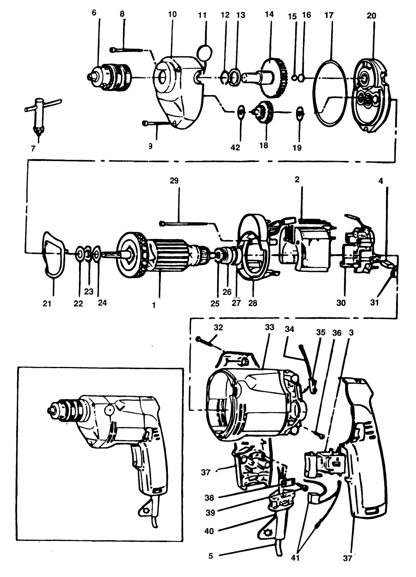 Spares For Elu Ecd305 Drill Type 1 Spare Ecd305 Type 1