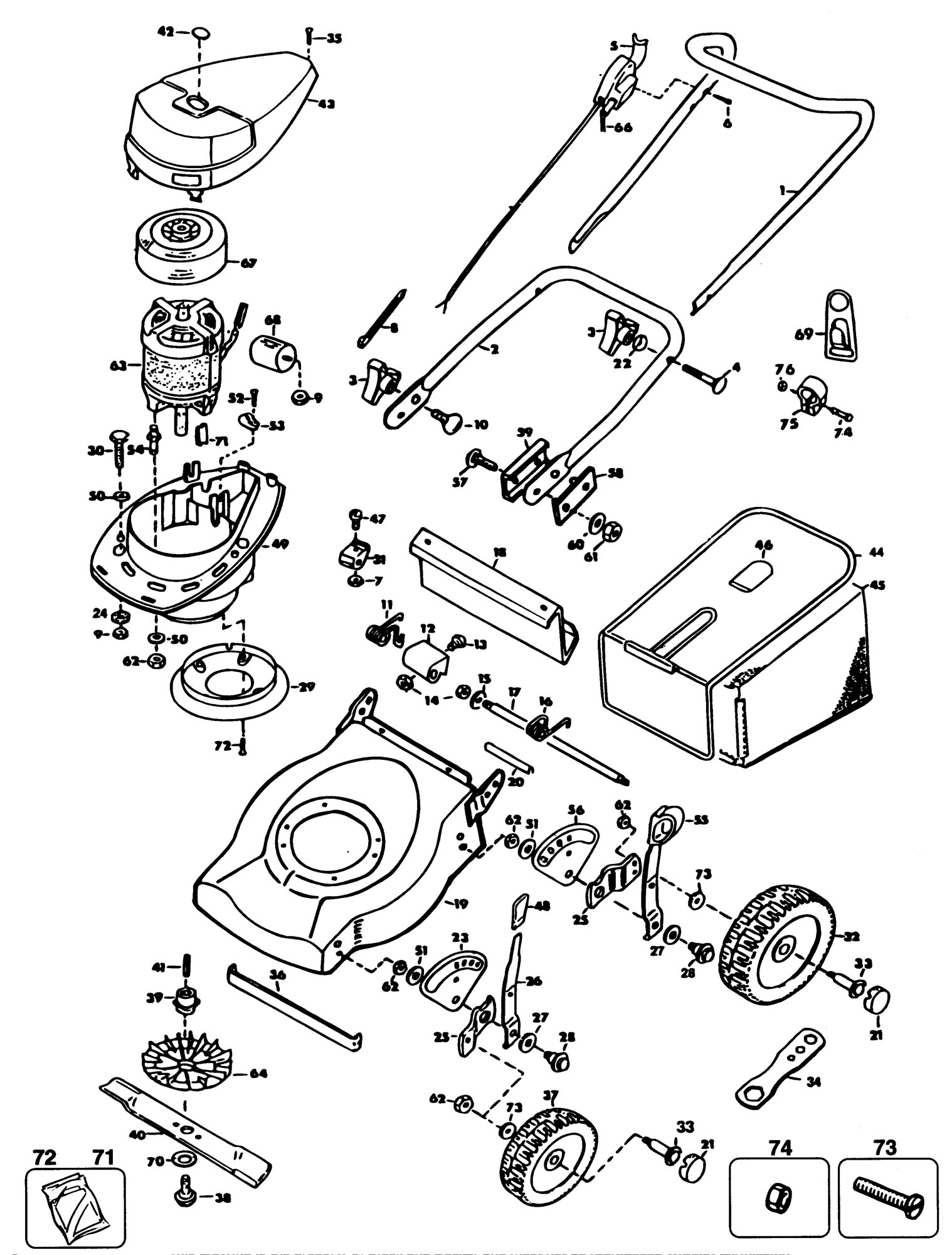 Spares for Black & Decker Gr530 Rotary Mower (type 2