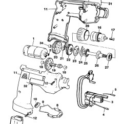 Parts Of A Drill Bit Diagram 88 Honda Accord Wiring Spares For Black And Decker Pl99 Cordless Type 1