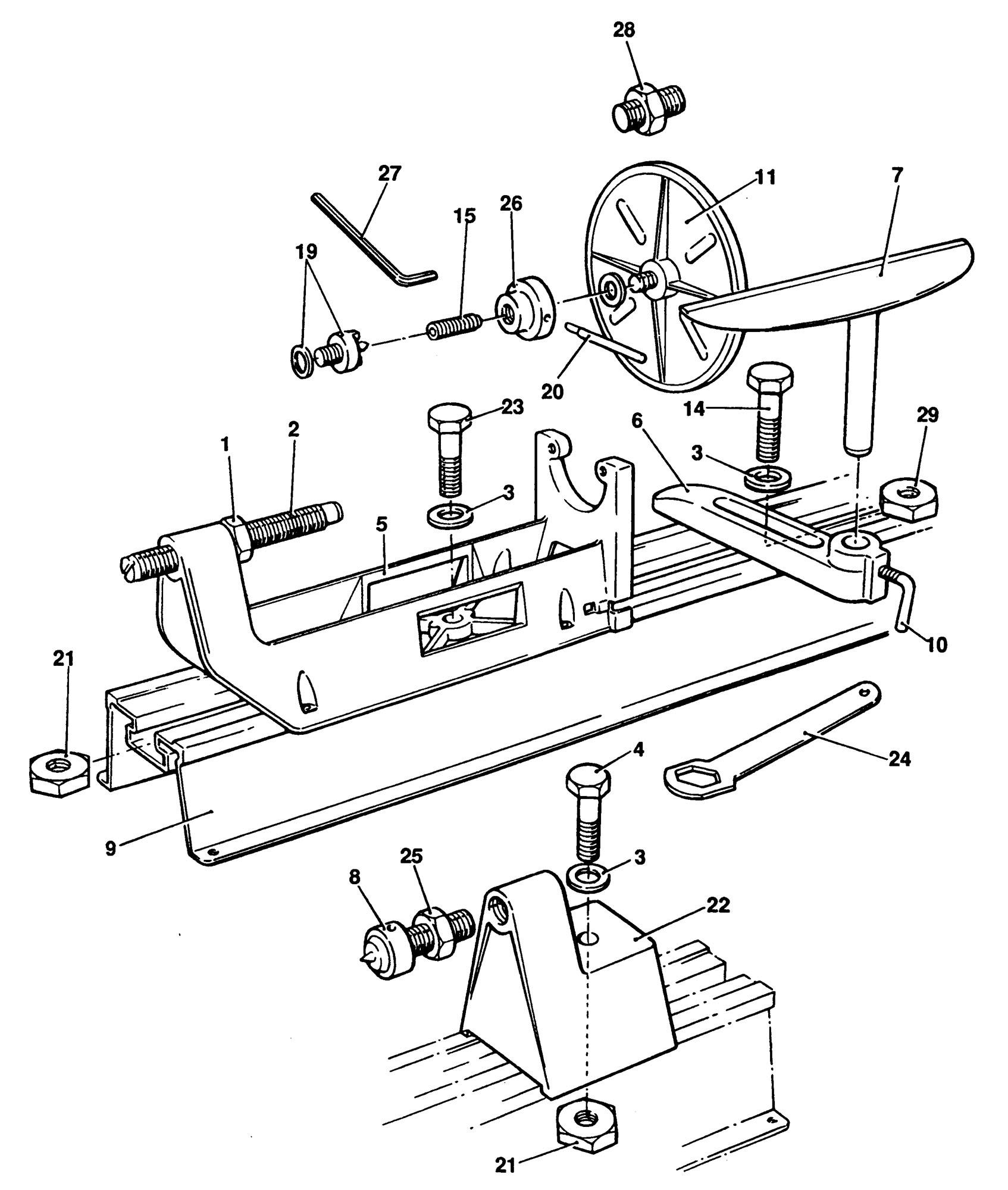 Spares For Black Amp Decker D994 Lathe Type 1 Spare D994