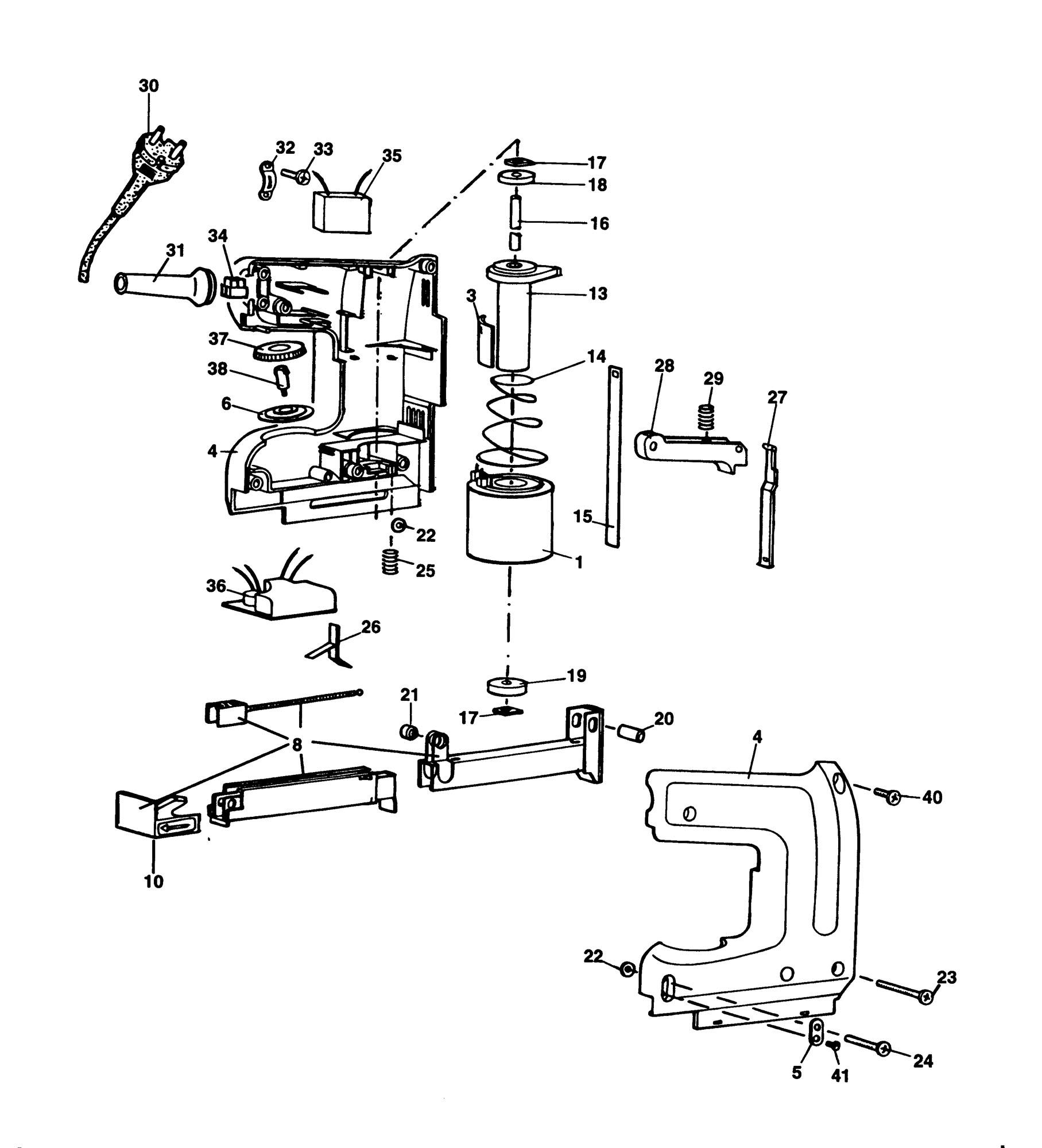 Spares for Black & Decker Bd418 Tacker (type 1) SPARE
