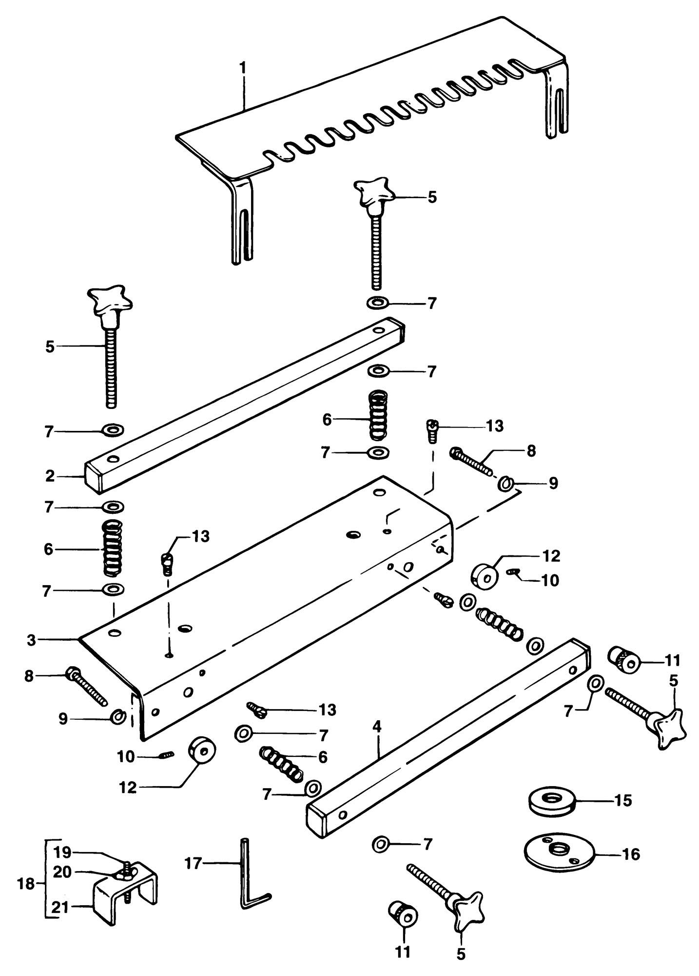 Spares For Elu E Dovetail Attach Type 1 Spare
