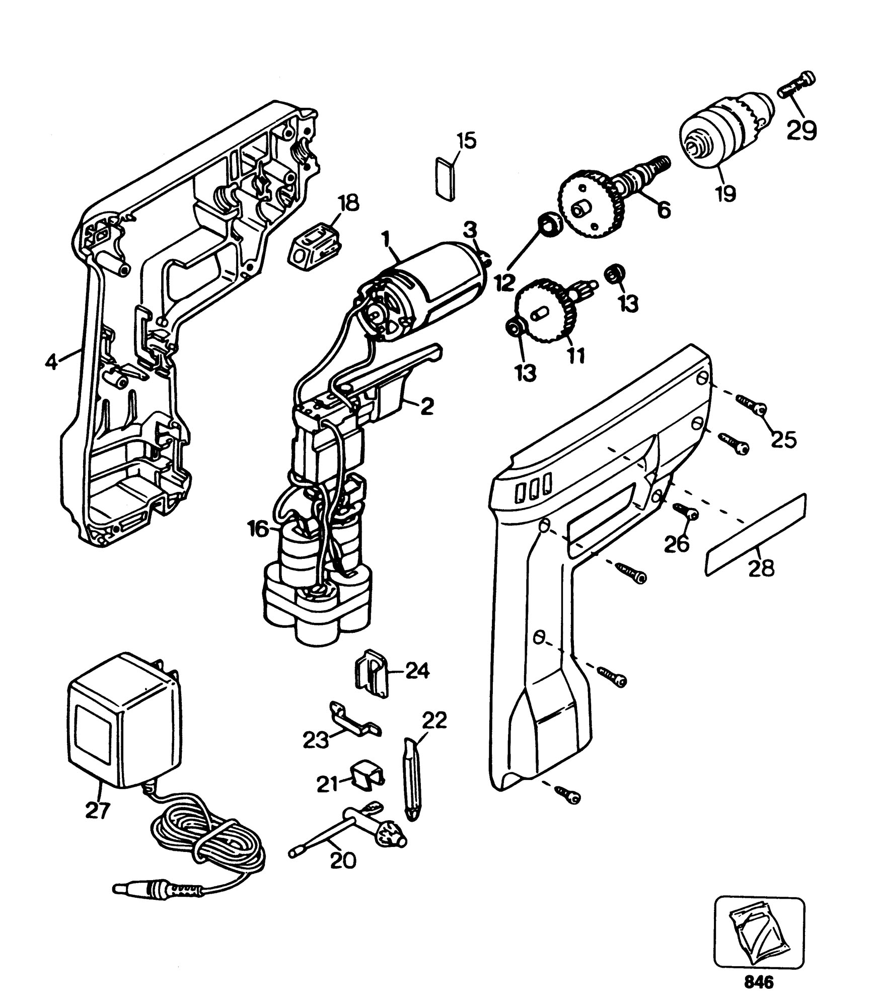 Spares for Black & Decker 9013 Cordless Drill (type 3